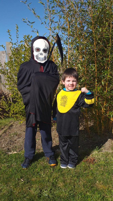 Laodren fête Mardi Gras avec son grand frère